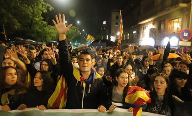 Manifestació unitària a Lleida contra la sentència del procés