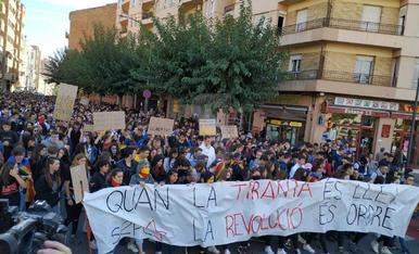 Manifestación de estudiantes en Lleida