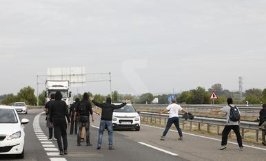 Talls de carreteres a les comarques de Lleida