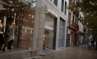 La vaga, a la ciutat de Lleida
