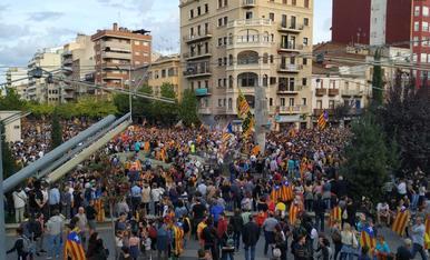 Manifestació de la vaga del 18-O a Lleida