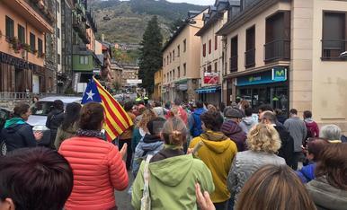Imatges de la vaga general a Lleida