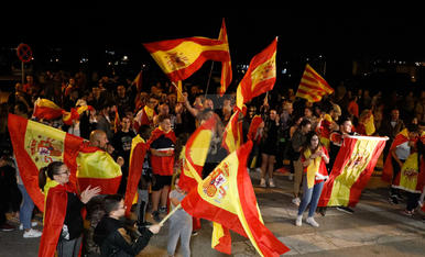 Manifestació a Lleida per la unitat d'Espanya