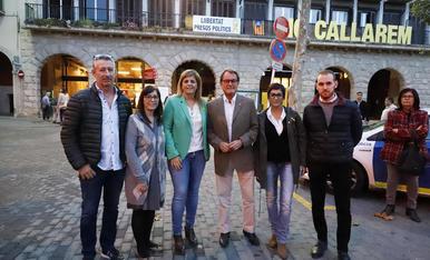 Artur Mas va participar en l'acte electoral de JxCat amb Cañadell i Rivero a Balaguer.