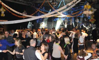 Una festa de Cap d'Any a la Llotja de Lleida.