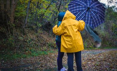 Pluja i vent. Aquesta tardor ha estat freda, plujosa i amb algun cop de vent inesperat.