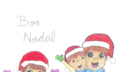 Autor: Lex Tomàs Martínez; Edat: 6 anys; Títol: Nadal amb els pares