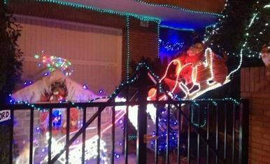 decoració de Nadal de la façana de casa.