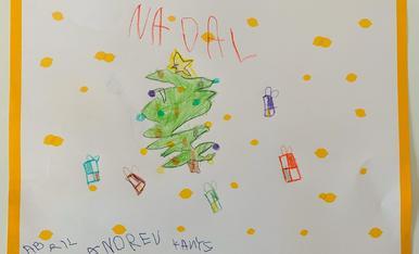 Dibuix Nadal Abril Andreu de Lleida 4 Anys
