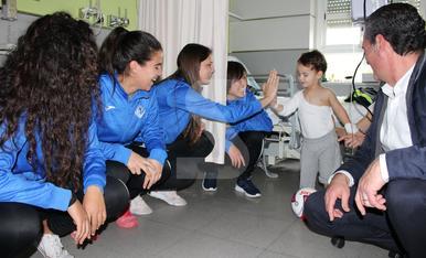 © Las jugadoras del AEM, en el Arnau