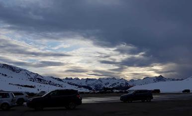 El temps d'hivern als Pirineus.