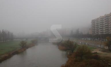 Boira densa i fred a la ciutat de Lleida