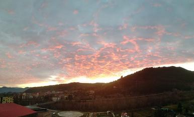Posta de sol d'hivern al Pallars