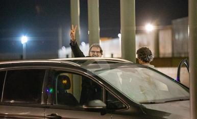 © Jordi Cuixart sale de la cárcel en su primer permiso