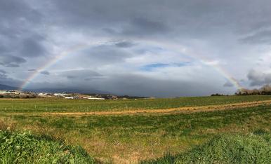 Foto realitzada en el dia d'avui. Abans del gran temporal, regnava la calma.