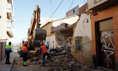S'esfondra una casa al Secà de Sant Pere de Lleida