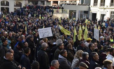 Manifestació en defensa del camp