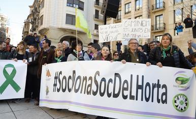 Protesta a Lleida en defensa del camp