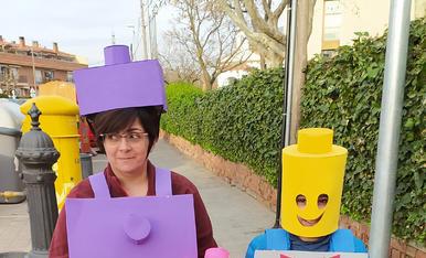 Disfressa de família LEGO