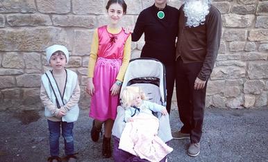 La familia Bobet ens hem disfressat dels personatges de la Heidi!!