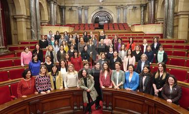 © Les 59 diputades catalanes, juntes pel 8-M