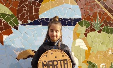La Gemma disfressada de galeta Maria.Mmmm que bona!
