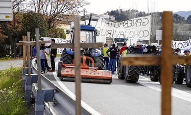 © Attrezzo en la protesta de la C-12