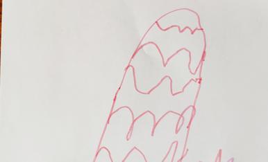 La meva mona ideal tindria un ou gegant de xocolata negra!! Biel Pujol Pla, 4 anys.