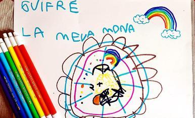 Mona dibuixada pel Guifré Garcia de 5 anys donant molts ànims a tothom!