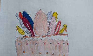 Mona de Pascua ,realizado por la Sophia-Martina de 6 años