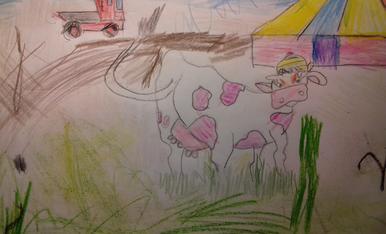 La vaca esbaiolada va al circ. (Bertí, 4 anys. La Garriga)
