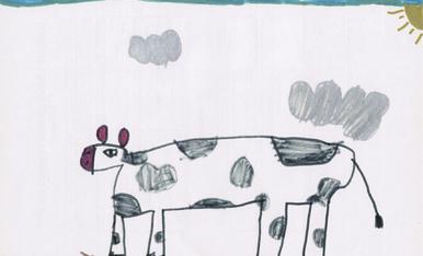 Sóc la Mercè Tutusaus i tinc 5 anys. Visc al Carrer Falcons de Vilafranca, 12 4t 4a de (08720) VIlafranca del Penedès. He dibuixat aquesta vaca per l'Esbaiola't 2020