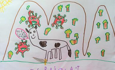 L'Ona te 6 anys, l'adreça es c/ Metall 23 d'Alcarràs i el telèfon dels pares es 679958202. Els tracta de la vaca elimina-virus