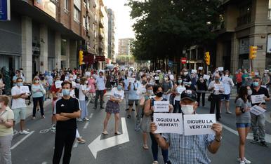 """Concentració a Lleida contra la """"inacció de Generalitat i Paeria"""