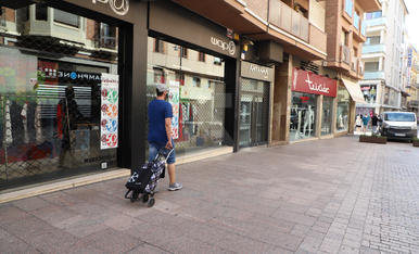 L'Eix Comercial de Lleida, en l'inici del nou confinament