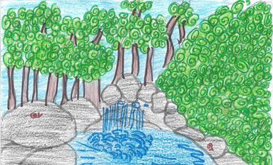 L'Ares Reñé recorda com un dels millor moments de l'estiu quan es va banyar al riu a prop de Gósol.