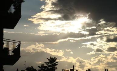 Atardecer de Agosto, confinado en Lleida, desde mi balcón