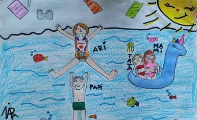 Ariadna Maria Delgado de 9 años de edad quiere compartir como cada año este bonito momento vivido en familia en las playas de la pineda.