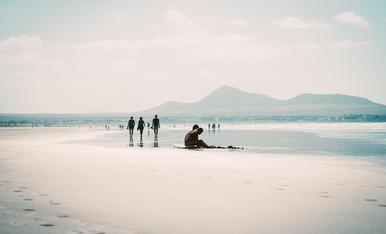 Gaudint de platges infinites. Lanzarote.