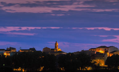 Montoliu de Lleida vist des de Albatàrrec