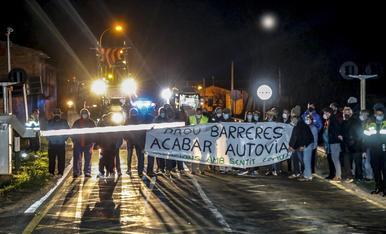 © Protesta a Térmens per un pas a nivell