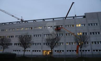 Obres de l'edifici annex de l'hospital Arnau de Vilanova de Lleida