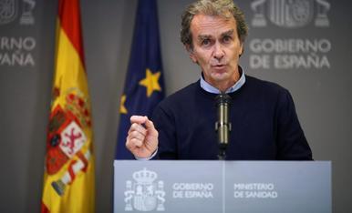 Fernando Simón, ahir en roda de premsa.
