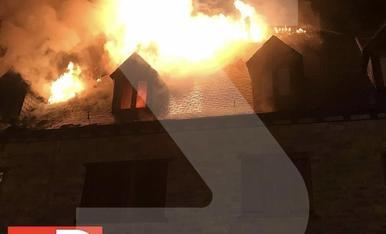 © Aparatós incendi a Casau, nucli de Vielha