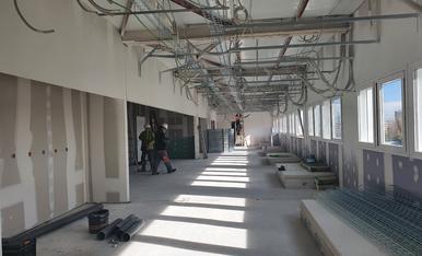 Les obres del nou edifici de l'Arnau se centren en les instal·lacions