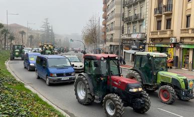 Tractorada a Lleida en defensa de la pagesia
