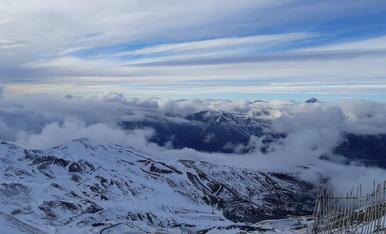 Sobre las nubes en Boí Taüll