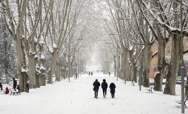 Nevada a Lleida del 9 de gener de 2021