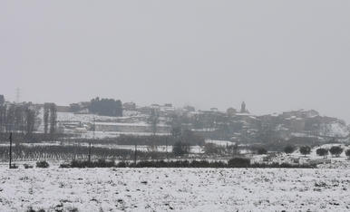 Panorama de Montoliu de Lleida en el segon dia de nevada. Filomena!!