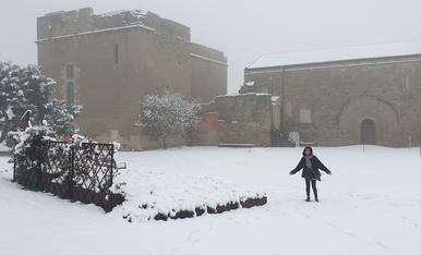 El Castell dels Templers de Gardeny nevat